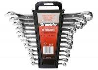 Набор ключей комбинированных 12 шт. 6-22 мм, CrV, полированный хром (MTX, 154269)