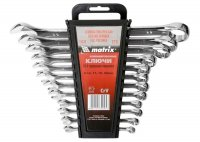 Набор ключей комбинированных 12 шт. 6 - 22 мм, CrV, полированный хром (MTX, 154269)