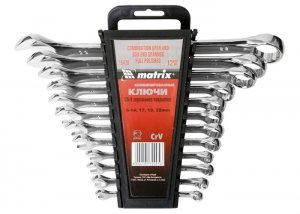 Набір ключів комбінованих 12 шт. 6 - 22 мм, CrV, полірований хром (MTX, 154269)