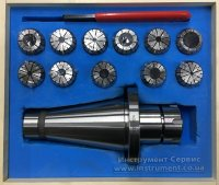 Патрон цанговый NT50-ER32, хвостовик конус 7:24-50, DIN2080, с набором цанг 11 шт (4-20мм) GRIFF, b221341