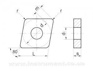 Пластина твердосплавная 05113-080304 Т5К10 покрытая TIN