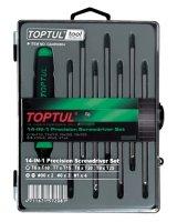 Набор отверток (T5-T20,PH,SL) 14 в 1, TOPTUL (GAAW0804)