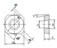 Пластина твердосплавная SPCW-1204 P25 покрытая