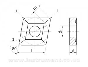 Пластина твердосплавная 05114-190608 Т15К6 покрытая