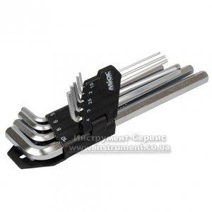 Набір шестигранних ключів подовжених з 9 шт., 1,5-10,0 мм, СRV (Miol, 56-396)