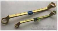Ключ накидной 8х10 мм, желтый цинк (Сибртех, 14614)