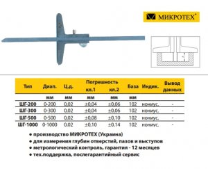 Штангенглубиномер ШГ-300-0,02 кл.2 (Микротех®)