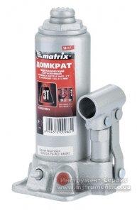 Домкрат гидравлический бутылочный 3 т. h подъема 194-372мм (MTX MASTER, 507179)