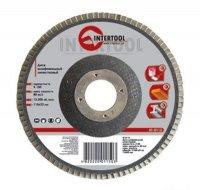 Круг шлифовальный лепестковый торцевой КЛТ 125х22 K80 (Intertool, BT-0208)