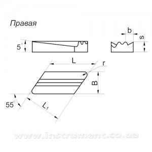 Пластина твердосплавная 08116-190610-136 ВК8