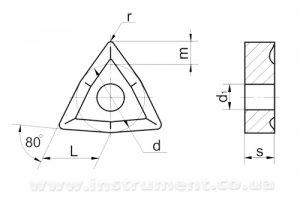 Твердосплавна пластина 02114-100608 Т5К10 покрита