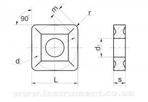 Твердосплавна пластина 03125-150412 HS123 двостороння