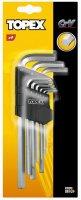 Набор шестигранных ключей удлиненных 9шт., 1,5-10мм, CRV (Topex, 35D956)