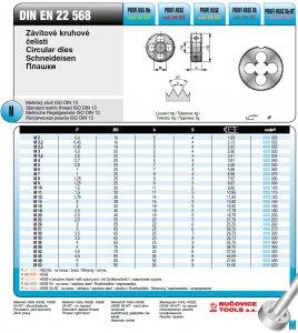Плашка 300 120 М 12 х 1,75 6g HSSE VA (Bucovice, Чехия)