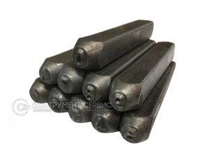 Клейма цифровые стальные 4 мм, 7858-0143 (Беларусь, Могилев)