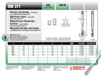 Метчик 177 080 DIN 371-C М 8 х 1,25 6H R40 HSSE INOX TIN (Bucovice tools, Чехия)