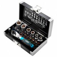 Набор бит и головок торцевых, 1/4, магнитный адаптер, сталь S2, пластиковый кейс, 26 предметов (GROSS, 11361)