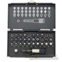 Набор бит, магнитный адаптер, сталь S2, пластиковый кейс, 32 предмета (GROSS, 11363)