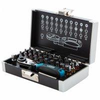 Набор бит, 1/4, магнитный адаптер, сталь S2, пластиковый кейс, 33 предмета (GROSS, 11365)