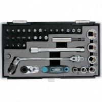 Набір біт і головок торцевих, 1/4, карданний ключ, тріскачка, адаптер, S2, 37 шт. (GROSS, 11625)