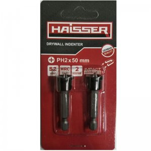 Біта по гіпсокартону PH2х50 мм, сталь S2, 2 шт (Haisser, 2712514)
