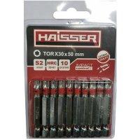 Набор бит TORX30х50 мм, S2, 10шт (Haisser, 2712712)