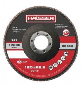 Круг шліфувальний пелюстковий 125х22 Р36 Т27 (Haisser, 5412701)