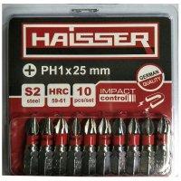 Набір біт PH1х25 мм, S2, 10шт (Haisser, 2712718)