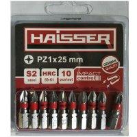 Набор бит PZ1х25 мм, S2, 10шт (Haisser, 2712719)