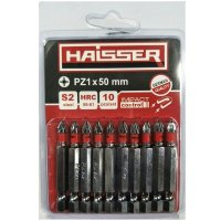Набор бит PZ1х50 мм, S2, 10шт (Haisser, 2712708)