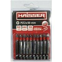 Набір біт PZ2х50 мм, S2, 10шт (Haisser, 2712709)