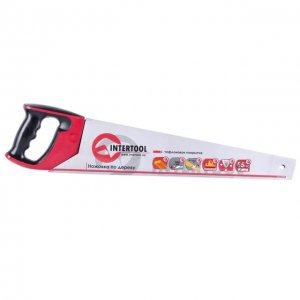 Ножівка по дереву 500 мм, з тефлоновим покриттям, калений зуб, потрійне заточування (INTERTOOL, HT-3109)