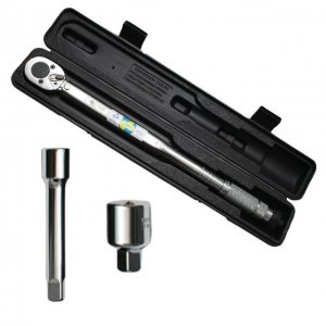 """Динамометричний ключ 1/2"""" перехідник 1/2 х 3/8, подовжувач 125 мм 1/2 28-210 NM (Intertool, XT-9007)"""