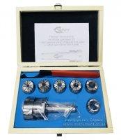 Патрон цанговый КМ2-ER32, хвостовик конус Морзе, DIN228-A, с набором цанг 6 шт (6-20мм) GRIFF, b220213