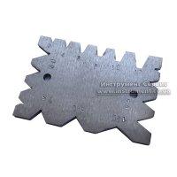 Шаблон универсальный для проверки угла заточки резцов резьбовых, трапециидальных и сверл (2-12 мм; 55*-120*)