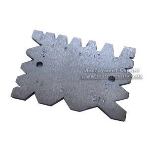 Шаблон універсальний для провірки кута заточки різців різьбових, трапеціїдальних і свердл (2-12 мм; 55*-120*)