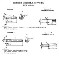 Метчик м/р комплектный М 4,0 (0,7) Р6М5 исп.1 (Китай)
