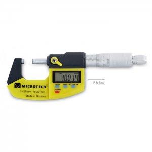 Микрометр гладкий цифровой МКЦ(4)-25-IP54-0,001 кл.2 (Микротех®)