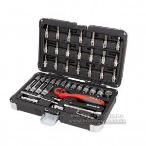 Набір інструменту 1/4, Cr-V, S2, посилений кейс, 47 предметів (MTX Professional)