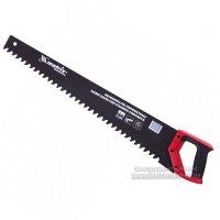 Ножовка по пенобетону 500 мм, защитное покрытие, твердосплавные напайки на зубья, двухкомпонентная рукоятка (MTX, 233809)