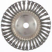 Щетка дисковая 200х22 мм, для УШМ, плоская, крученая проволока (MTX, 746389)