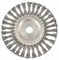 Щетка дисковая 175х22 мм, для УШМ, плоская, крученая проволока (MTX, 746369)