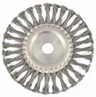Щітка дискова 175х22 мм, для КШМ, плоска, кручений дріт (MTX, 746369)