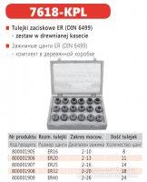 Набор цанг 7618-ER32 KPL (18 шт) Bison-Bial
