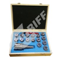 Патрон цанговый NT40-ER40, хвостовик конус 7:24-40, DIN2080, с набором цанг 15 шт (4-26мм) GRIFF, b221324