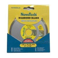 Алмазный круг NovoTools Basic 125 мм*5 мм*22,23 мм Плитка (DBB125/C)