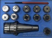 Патрон цанговый NT40-ER32, хвостовик конус 7:24-40, DIN2080, с набором цанг 11 шт (4-20мм) GRIFF, b221323