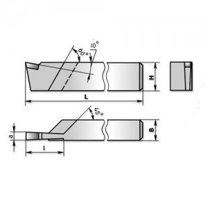 Різець відрізний 40х25х200 ВК8 (СИиТО) 2130-0017