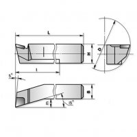 Резец расточной для глухих отверстий 40х32х300 ВК8 (ЧИЗ) 2141-0060(45)