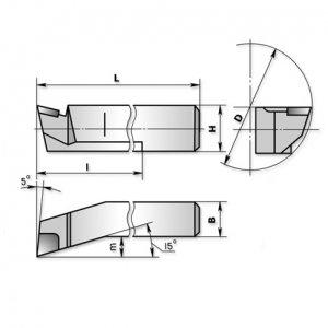Різець розточний для глухих отворів 40х32х300 Т5К10 (ЧІЗ) 2141-0060(45)